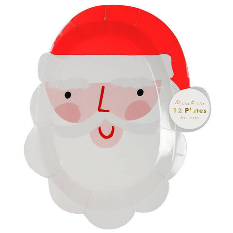 Santa Face Party Plates by Meri Meri
