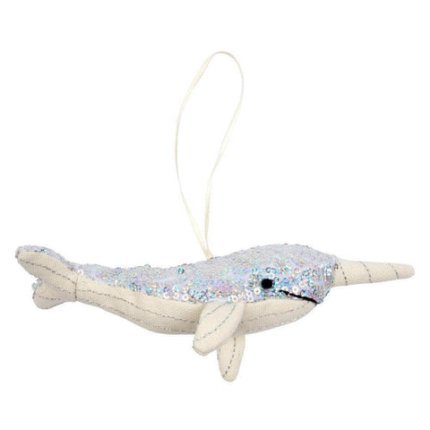 Sequin Narwhal Tree Decoration by Meri Meri