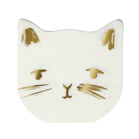 Cat Shaped Party Napkins by Meri Meri - Junior Edition
