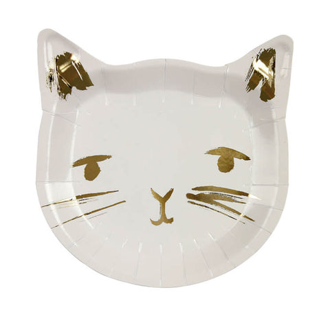 Cat Shaped Party Plates by Meri Meri - Junior Edition