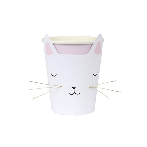 Cat With Whiskers Party Cups by Meri Meri - Junior Edition