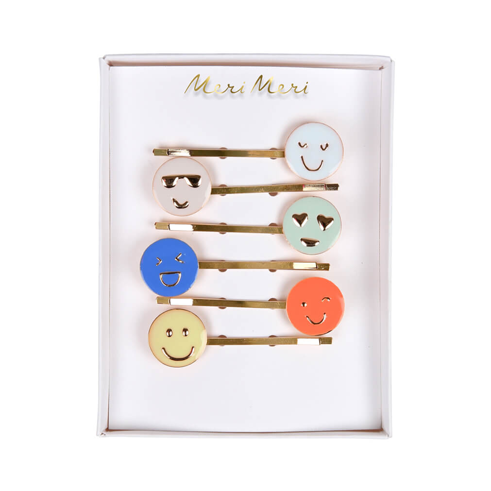 Emoji Enamel Hairclips by Meri Meri - Junior Edition