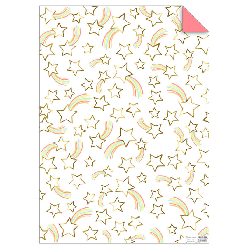 Shooting Stars Gift Wrap by Meri Meri - Junior Edition