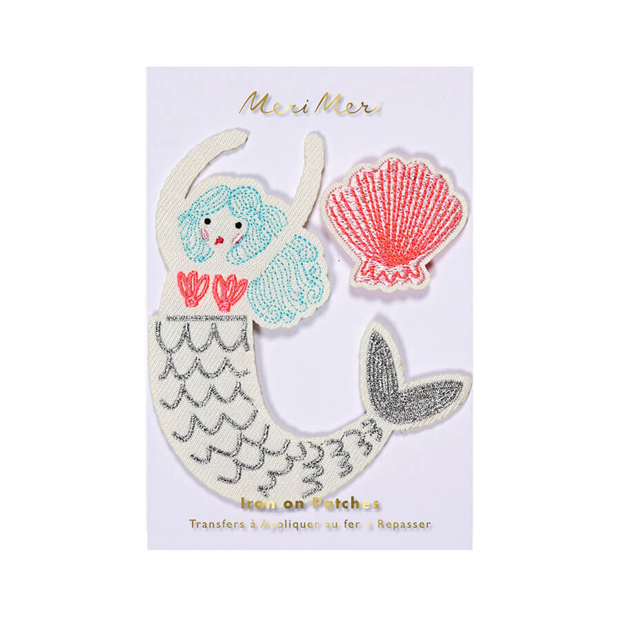 Mermaid Iron On Patches by Meri Meri - Junior Edition
