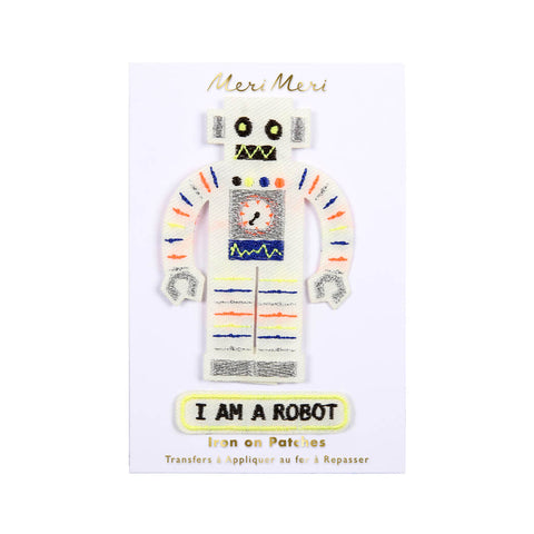 Robot Iron On Patches by Meri Meri - Junior Edition