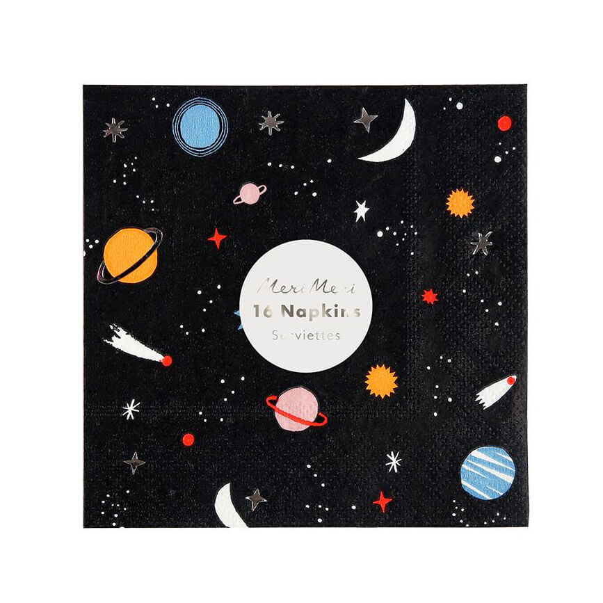 Small Space Party Napkins by Meri Meri - Junior Edition