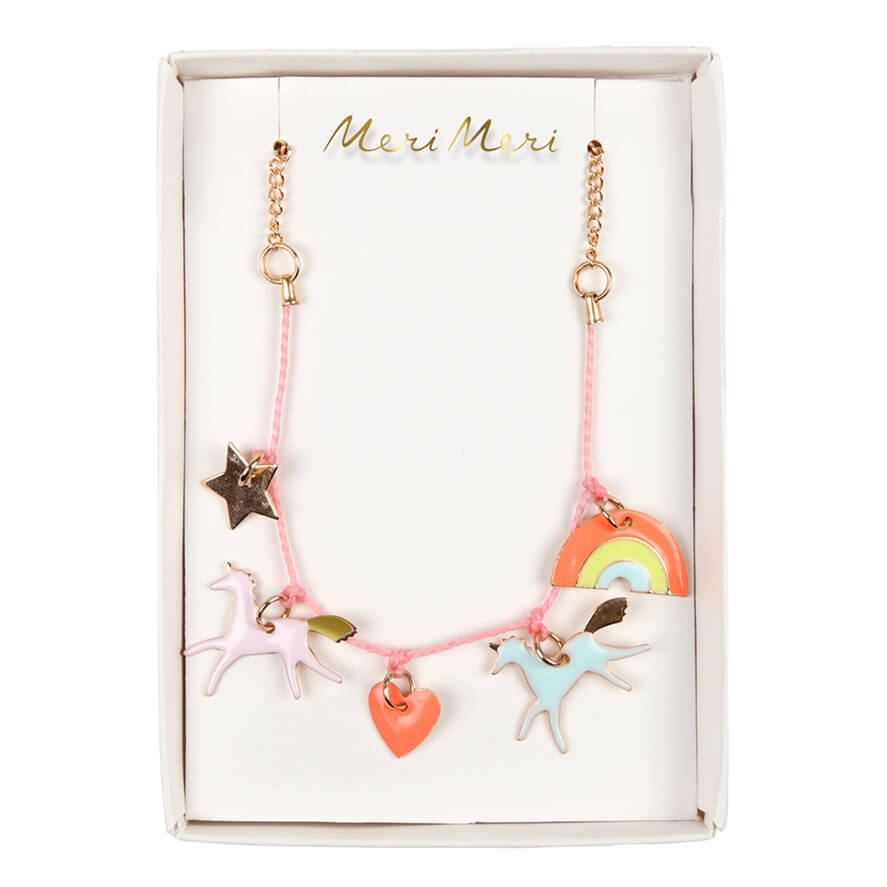 Unicorn Charm Necklace by Meri Meri - Junior Edition