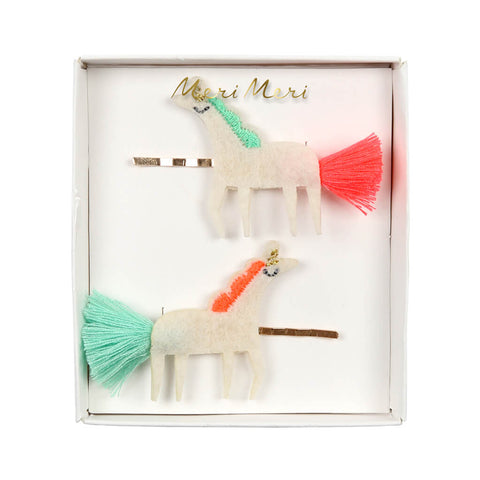 Unicorn With Tails Hair Slides by Meri Meri - Junior Edition