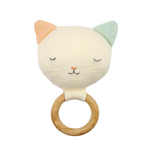Cat Baby Rattle by Meri Meri