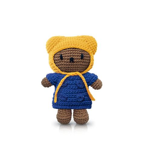Boris In His Blue Coat And Yellow Hat by Miffy Handmade