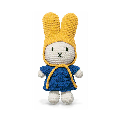 Miffy In Her Blue Coat And Yellow Hat by Miffy Handmade