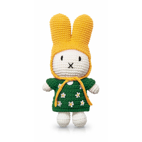 Miffy In Her Green Flower Dress And Yellow Hat by Miffy Handmade