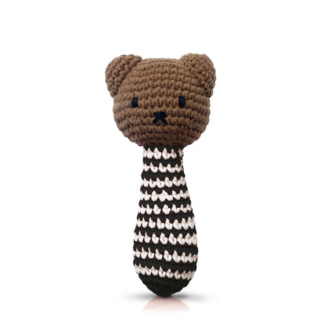 Boris Rattle In Black Stripes by Miffy Handmade - Junior Edition