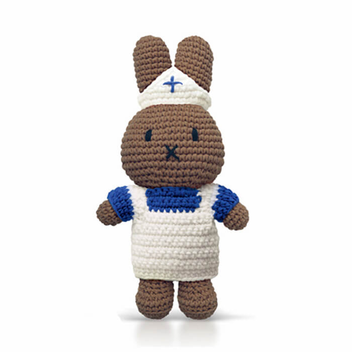 Nurse Melanie In Her Blue And White Nurse Uniform by Miffy Handmade - Junior Edition