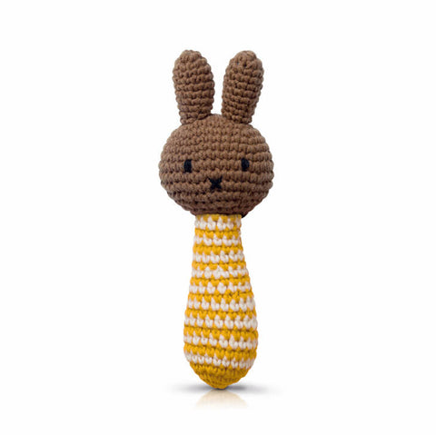 Melanie Rattle In Yellow Stripes by Miffy Handmade - Junior Edition