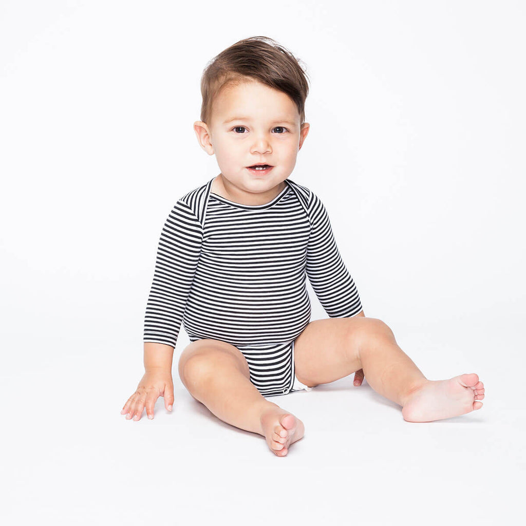 Stripe Bodysuit by Mingo Kids - Junior Edition  - 5