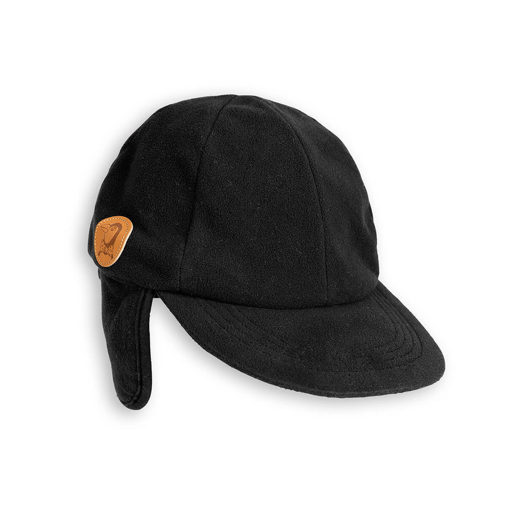 Fleece Cap in Black by Mini Rodini - Junior Edition