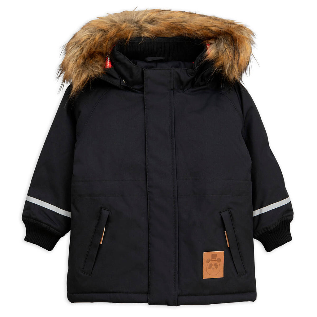 K2 Parka in Black by Mini Rodini - Junior Edition