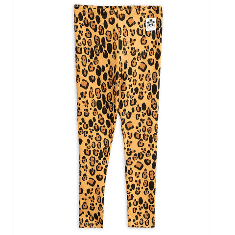 Basic Leopard Leggings in Tencel by Mini Rodini