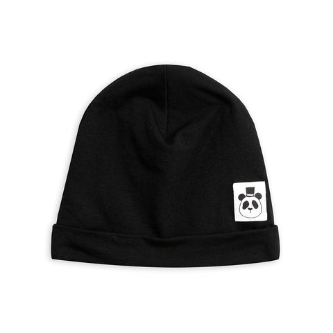 Basic Beanie in Black Tencel by Mini Rodini