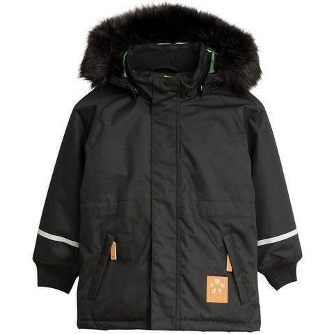 K2 Parka in Black (Penguin Lining) by Mini Rodini