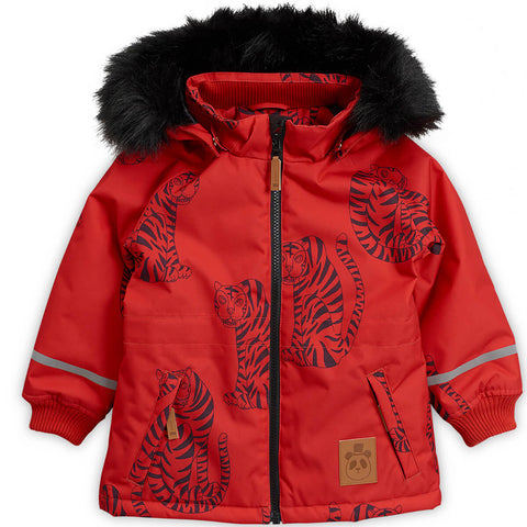 K2 Tiger Parka in Red by Mini Rodini