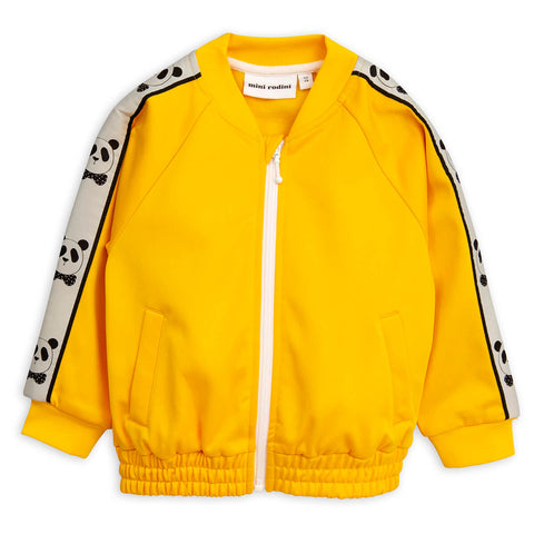 Panda Track Jacket in Yellow by Mini Rodini - Junior Edition