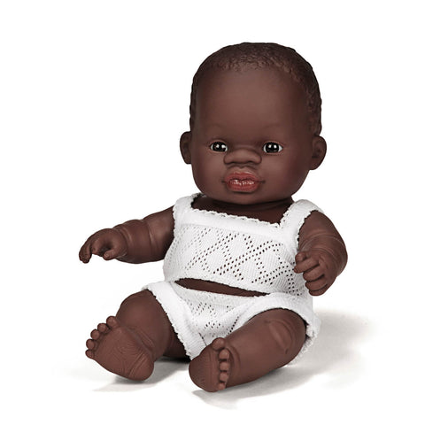 Baby Boy Doll (21cm African) by Miniland