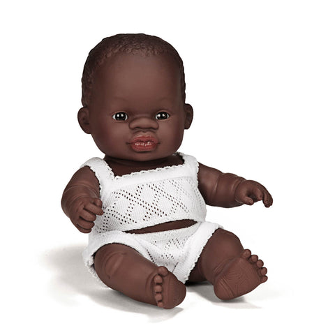 Baby Girl Doll (21cm African) by Miniland