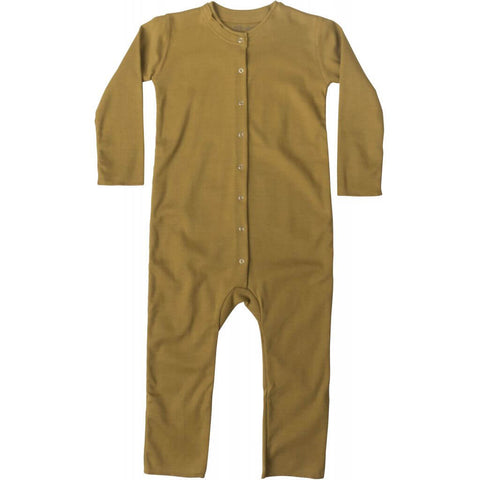 Noor Organic Cotton Romper in Golden Leaf by Minimalisma - Junior Edition