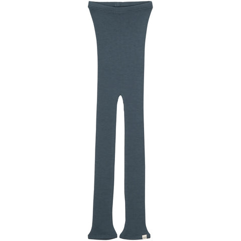 Arona Merino Wool Seamless Leggings in Thunder Blue by Minimalisma