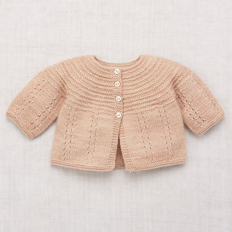 Pram Cardigan in Shell by Misha & Puff