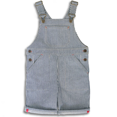 Porter Short Dungarees in Indigo Stripe by Monty & Co