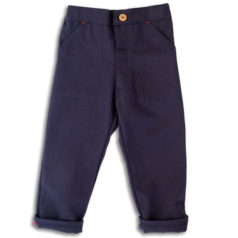 Utility Trousers in Navy by Monty & Co