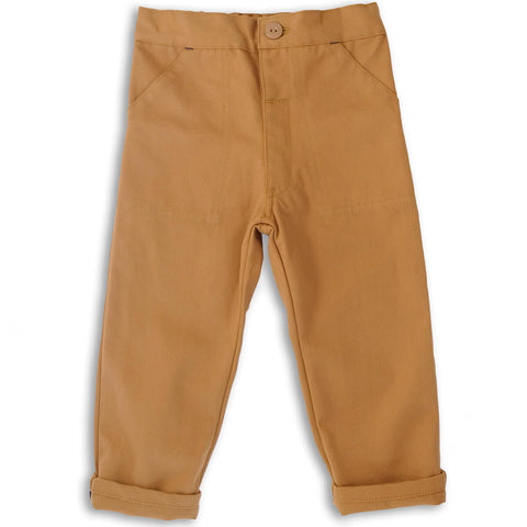 Utility Trousers in Tan by Monty & Co