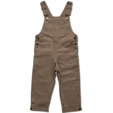 Porter Dungarees in Khaki by Monty & Co - Junior Edition