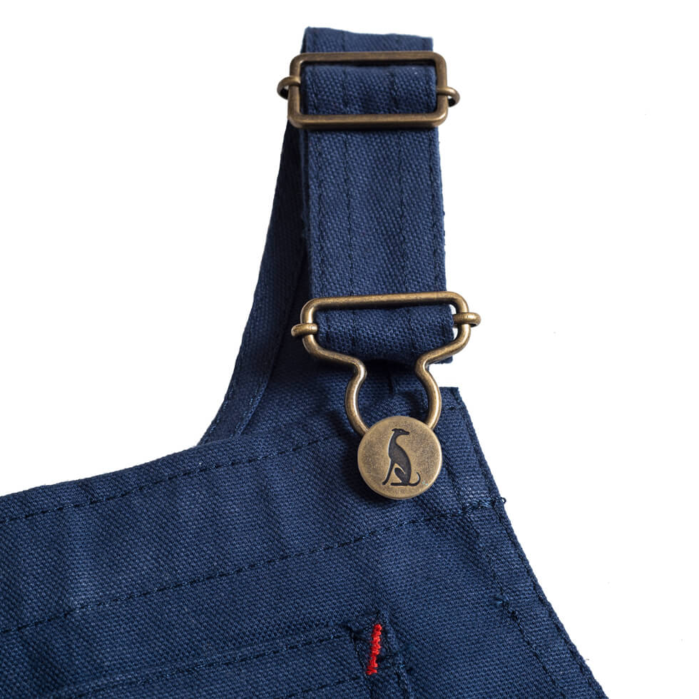 Porter Dungarees in Light Navy by Monty & Co - Junior Edition