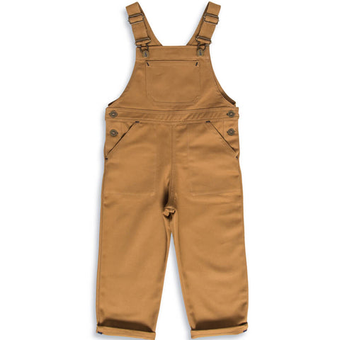 Porter Dungarees in Tan by Monty & Co - Junior Edition