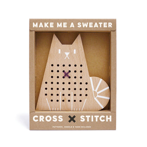 Cross Stitch Friends Cat by Moon Picnic - Junior Edition