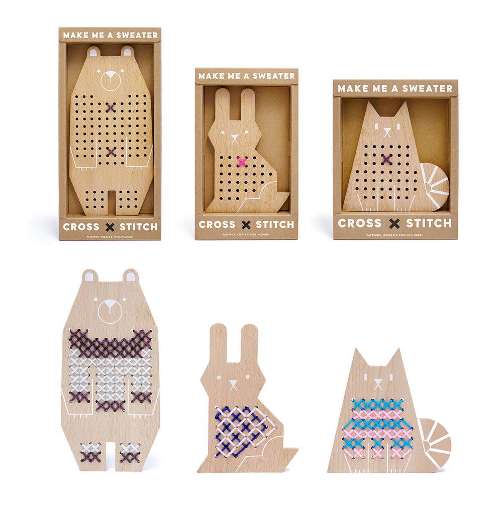 Cross Stitch Friends Rabbit by Moon Picnic - Junior Edition
