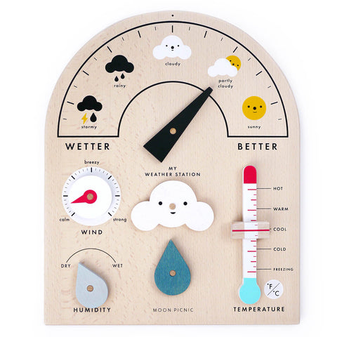 My Weather Station Wooden Toy by Moon Picnic - Junior Edition