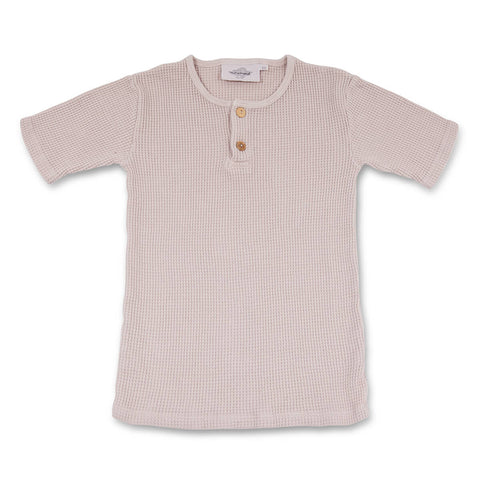 Noe Bee Baby Waffle T Shirt in Nude by My Moumout - Junior Edition