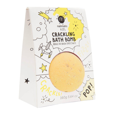 Crackling Bath Bomb in Yellow by Nailmatic Kids