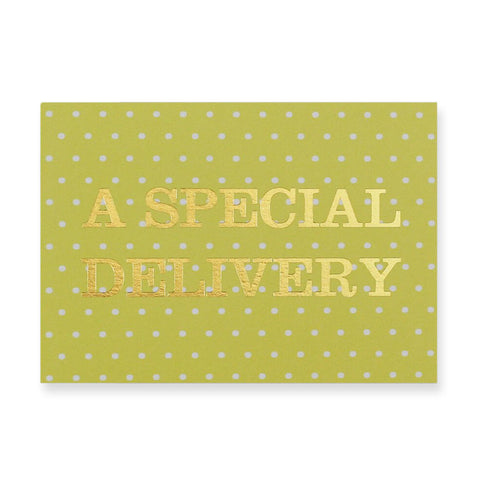 A Special Delivery Greetings Card by Nancy & Betty Studio