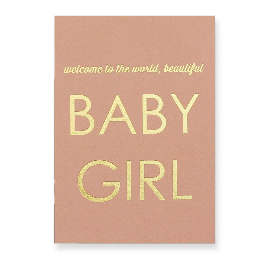 New Baby Girl Greetings Card by Nancy & Betty Studio - Junior Edition