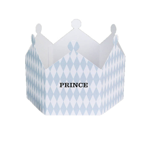 Prince Harlequin Crown Greetings Card by Nancy & Betty Studio - Junior Edition