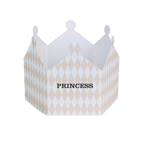 Princess Harlequin Crown Greetings Card by Nancy & Betty Studio - Junior Edition