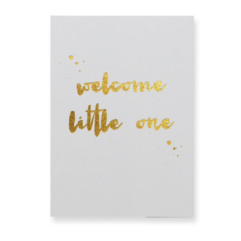 Welcome Little One Greetings Card by Nancy & Betty Studio