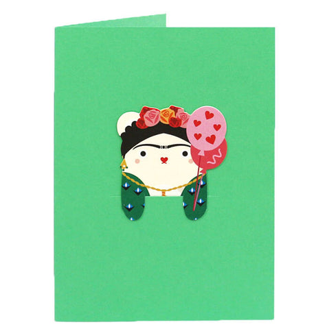 Ricefrida Bookmark Greetings Card by NooDoll - Junior Edition