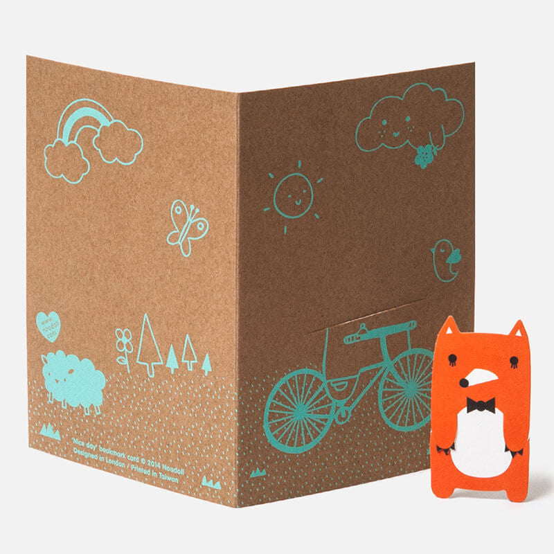 Bike Field Bookmark Greetings Card by NooDoll - Junior Edition  - 2